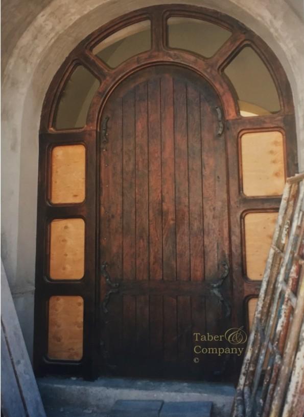 Wood entry doors with sidelights custom made taber for Custom made wood doors